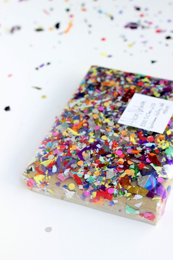 DIY confetti package - so easy, plus who wouldn't love getting confetti in the mail?!