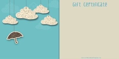 Free printable gift certificate templates that can be customized online within minutes with the free gift certificate maker