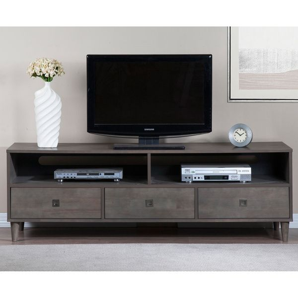 Marley Rubberwood Grey Entertainment Center - Overstock™ Shopping - Great Deals on Entertainment Centers