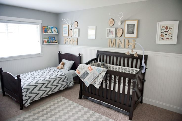 Eclectic Woodland Nursery | The Little Umbrella doubled up kids room