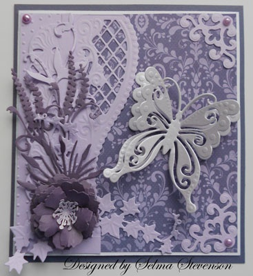 lovely butterfly card - Selma's Stamping Corner