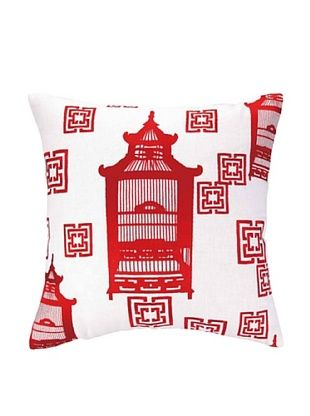 50% OFF Cococozy Birdcage Toile Pillow (Red)