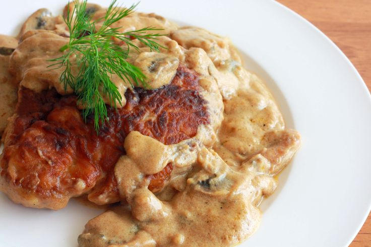 This breaded and fried pork chops with a rich and creamy mushroom gravy looks decadent! I WILL BE serving this with homemade spatzle (recipe pinned on my iCook Sides board).