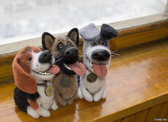 So cute! Little needle felted dogs