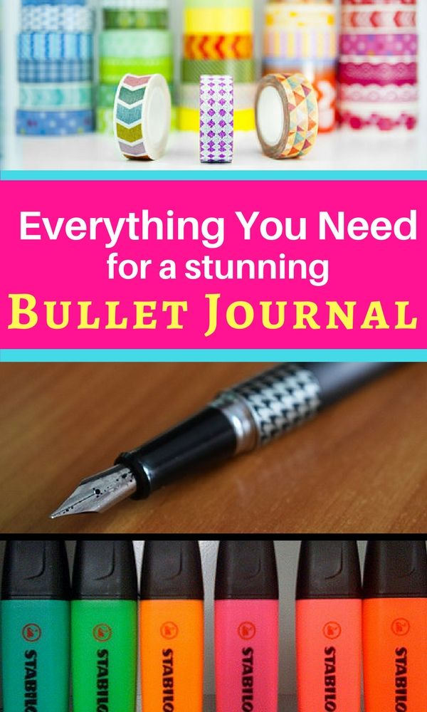 Get the most out of bullet journaling with these fun and useful supplies!