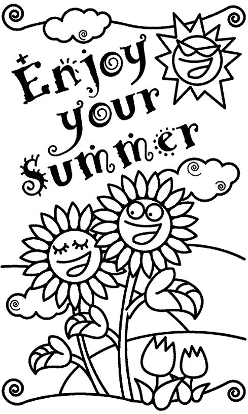 79 best Summer funSummercloring images on Pinterest Coloring