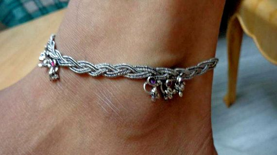 ankletgypsy foot jewelryindian ankletslave ankletankle by avicraft