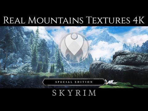 4K REAL MOUNTAIN TEXTURES | Skyrim SE Ultra High ENB - Photoreal Graphic...