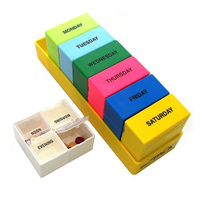 I've never seen a pill organizer as practical and cute as this one!