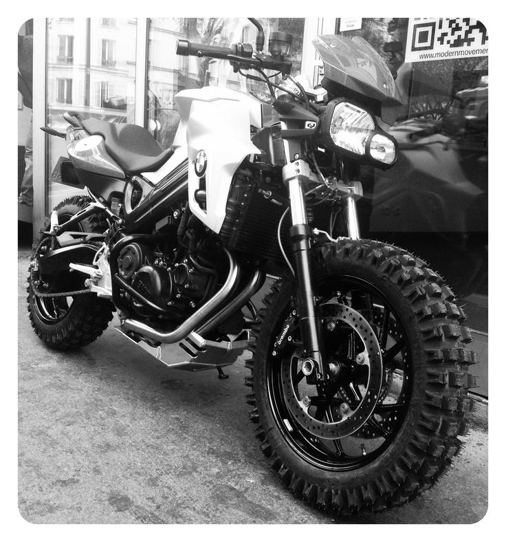 BMW F800R customized...new creazy idea from http://www.moto-journal.tv  #motorcycles #custom #bmw