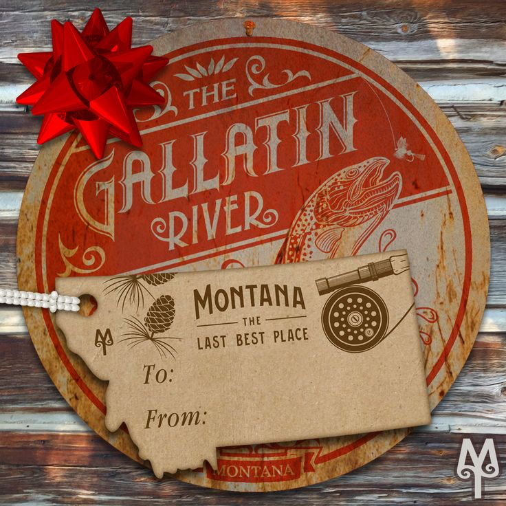 A Vintage Gallatin River Gone Fishing by Montana Treasures makes the perfect holidays gift for your fly fisherman.