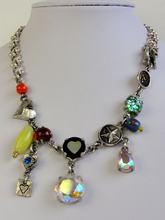 Nu in de #Catawiki veilingen: Otazu - halsketting - Swarovski kristal - Aurora Borealis kristal - strass