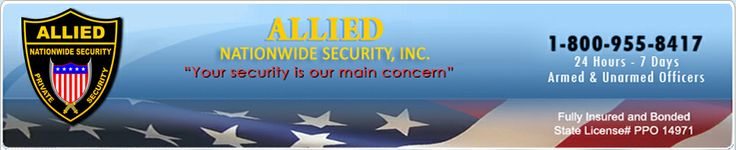 Allied Nationwide Security's supreme mission will be to satisfy all clients' demands, tailor our solutions to each individual client needs and to employ the most moral and responsible security officers within the industry. >> security guard companies Los Angeles --> http://www.alliednationwide.com/