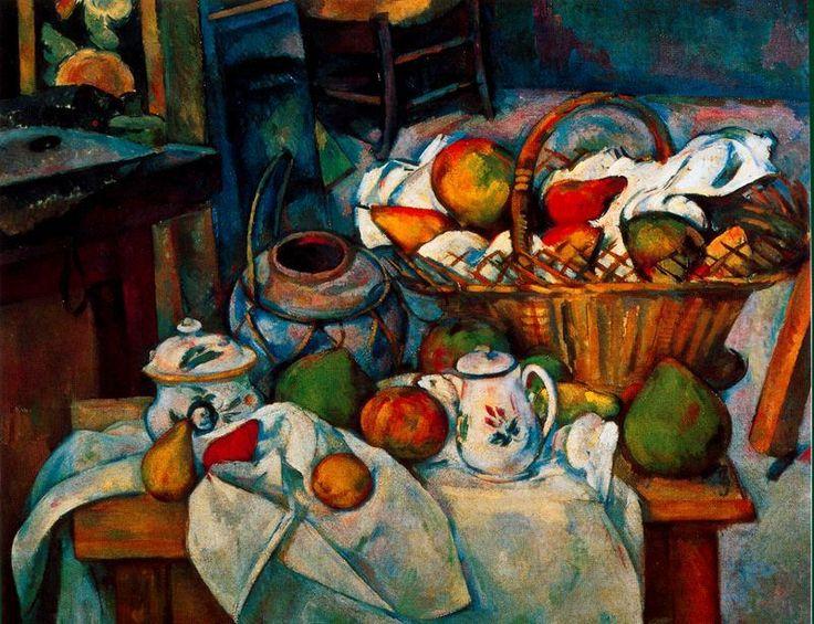 """""""Naturaleza muerta con cesto"""" Paul Cezanne"""