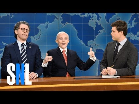 "Kate McKinnon's Sessions Gets Oily With 'Al Franken' On 'SNL'  Ersatz attorney general oozes charm to win over senator on ""Weekend Update."""