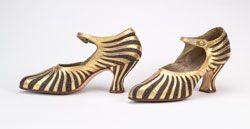 Starburst flapper shoe was designed in 1922-25 by Dutch shoe designer, Th. J de Bont