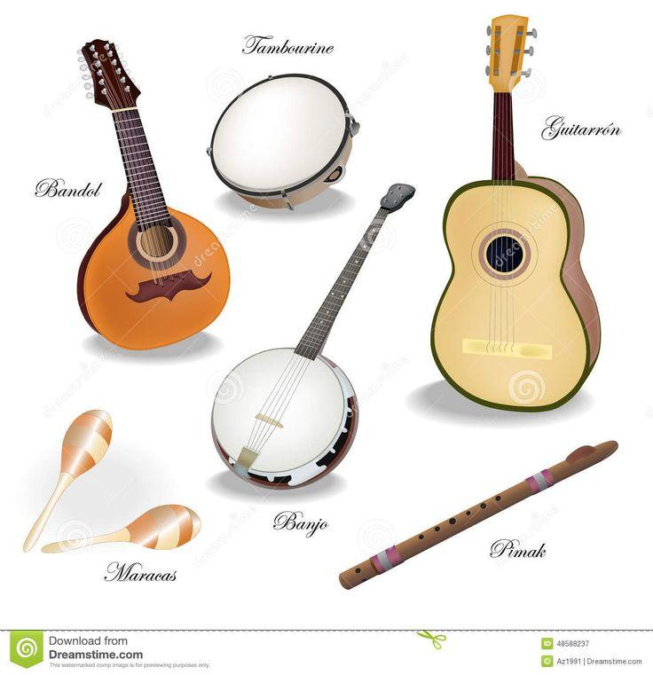 Mexican mariachi instruments