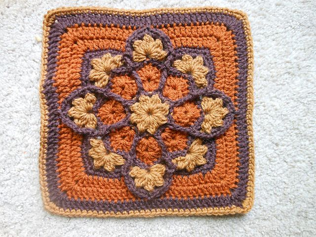 JulieAnny's Stained Glass Afghan Square ~ free pattern via Ravelry