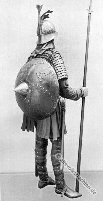 Karolinger Ritter aus der karolingisch-fränkischen Periode.