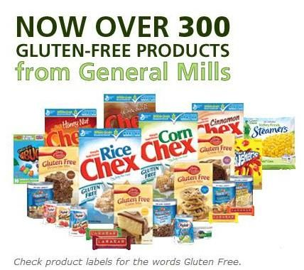 GLUTEN FREE FOOD yougurt, fruit snacks...dry cereal..brownies