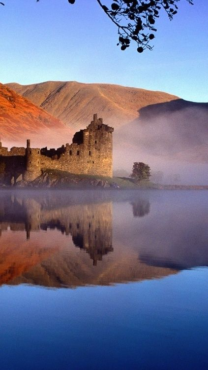 Scotland the brave.. And beautiful! Kilchurn Castle on Loch Awe, Argyll and Bute, Scotland