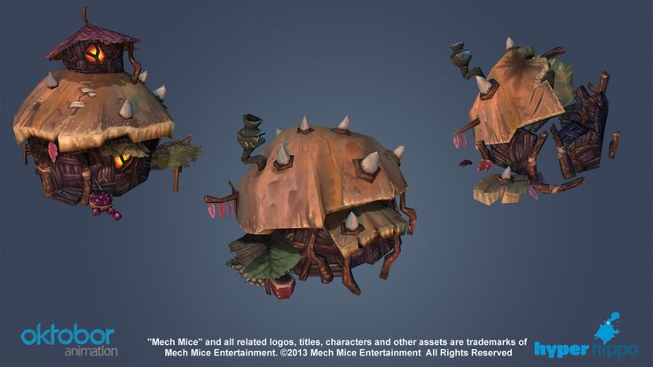 Mech Mice - Painted Game Assets - Polycount Forum