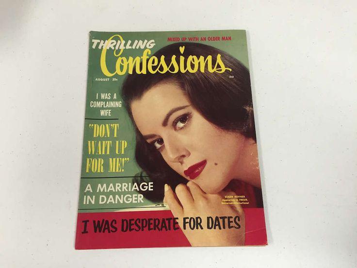 Thrilling Confessions Magazine, August 1962 Romance Magazine, Pulp Magazine