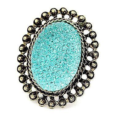 Hete Europese en Amerikaanse retro snoep gekleurde edelsteen ringen hol ovale (willekeurige kleur) – EUR € 0.91