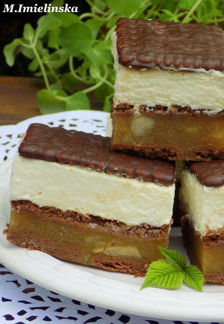 Domowa Cukierenka - Domowa Kuchnia: jabłecznik z mascarpone (bez pieczenia)