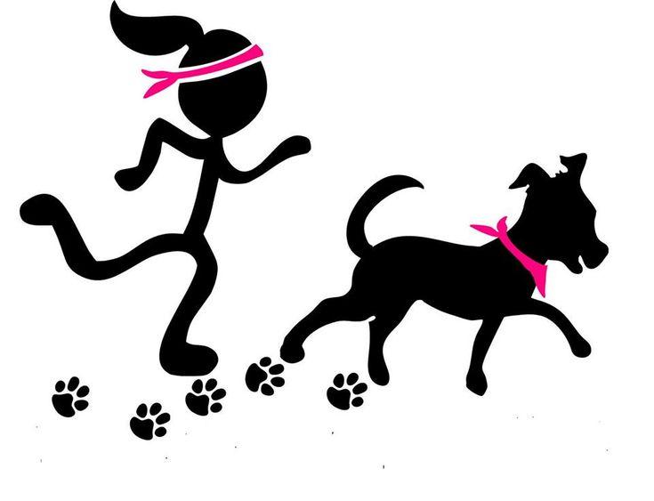Girl and Dog running
