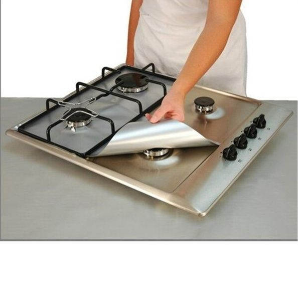 Reusable Gas Stove Top Burner Cover Protector Liner Cleaning Mat Kitchen Tools