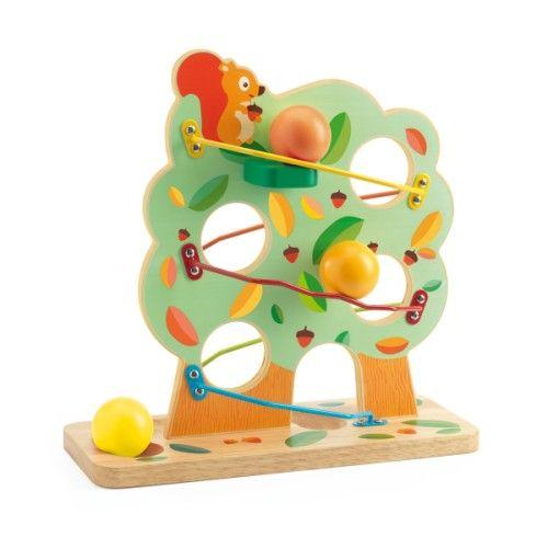 Circuit en bois Tac boum nut Djeco pour enfant de 1 an et demi à 3 ans - Oxybul éveil et jeux