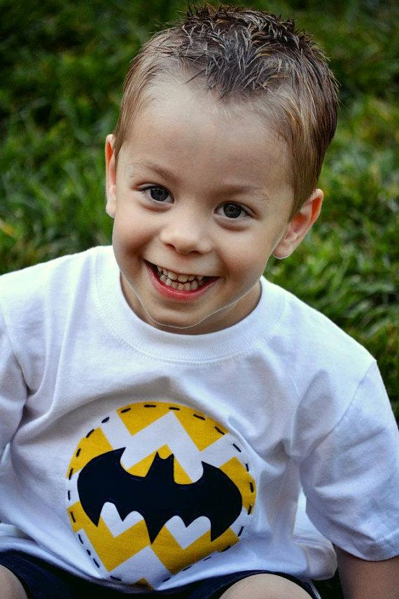 BATMAN Boys Applique Shirt Or Onesie You Pick by LolosBoutique