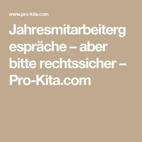 Jahresmitarbeitergespräche – aber bitte rechtssicher – Pro-Kita.com