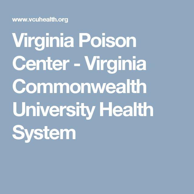 Virginia Poison Center - Virginia Commonwealth University Health System