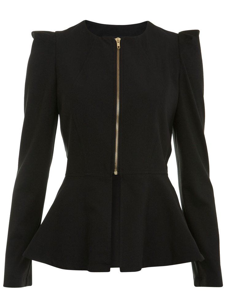 Black Peplum Jacket - View All - Going Out - Miss Selfridge US $80.00