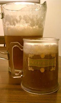 Adult (Alcoholic) Butterbeer recipe: -8oz of Butterscotch Schnapps -2 liter Cream Soda -4 tbsp Marshmallow fluff (makes one pitcher)