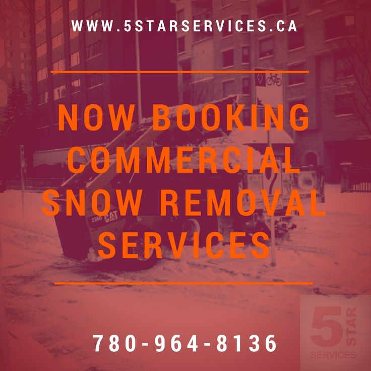 Now booking for all commercial snow removal services for this coming winter in and around Edmonton!