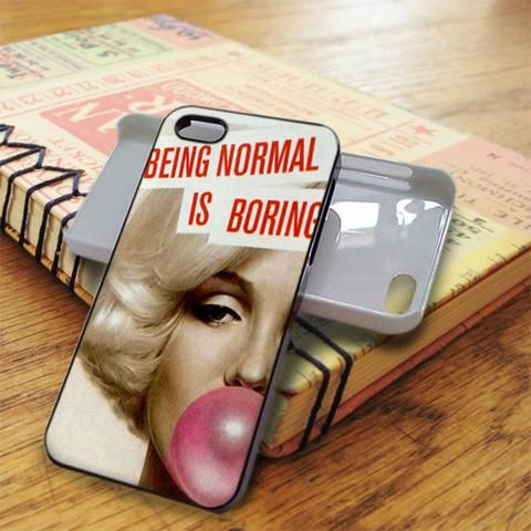 Marilyn Monroe Being Normal Is Boring Bubble Gum iPhone 5C Case