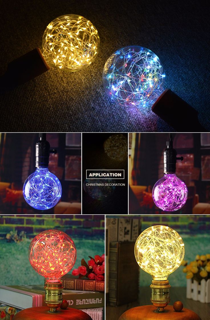 Aliexpress.com : קנו RGB LED לילה אור מנורת להט אדיסון רטרו פיות אור LED מחרוזת הנורה G95 E27 110 V 220 V עבור חג המולד מקורה חג אור מספקי light string bulb אמינים בShenZhen AMENTE Co. Ltd