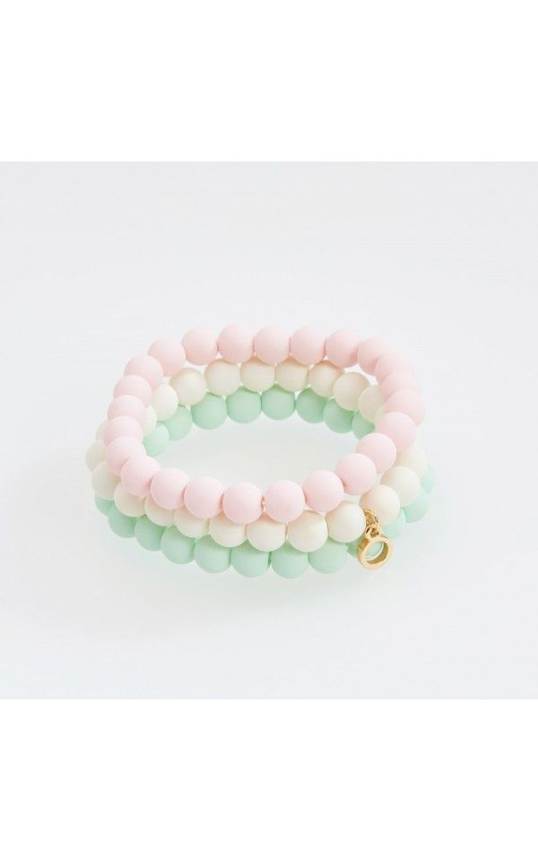 Beaded bracelets, NEW COLLECTION SK 16, white, RESERVED