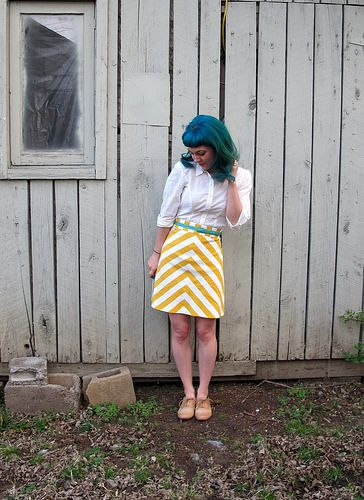 Lauren's chevron Ginger skirt