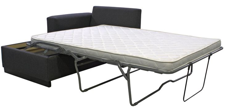 Modern Chaise sofa bed featuring the Exclusive Italian Posture Slat bed mechanism and Saguard the anti sag protector.  One of Australia's best sofa bed mechanisms.