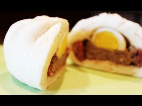 Steamed Pork Buns - Banh Bao | Yummies4Dummies - YouTube---Looks really yummy and might also transport moderately well for lunch on the go. Cooking them does require a way to steam the buns though, so I might have to see what Alton Brown has to say about that.