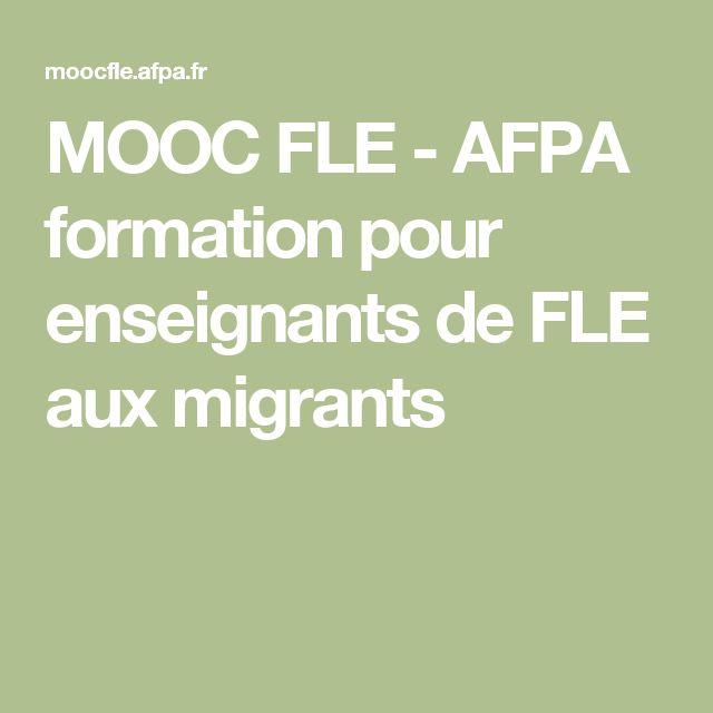 MOOC FLE - AFPA formation pour enseignants de FLE aux migrants