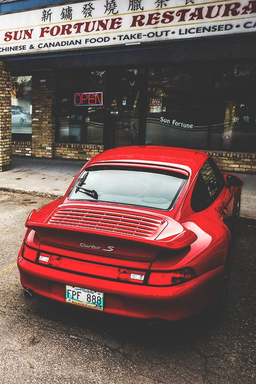 Porsche 911 turbo s (Type 993) - red with tan interior for my hubby's dream car!