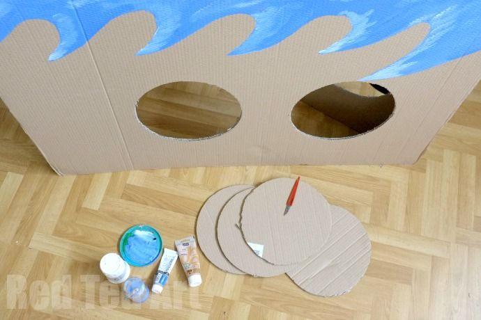 Cardboard Pirate Ship Photo Prop and play house - step 4