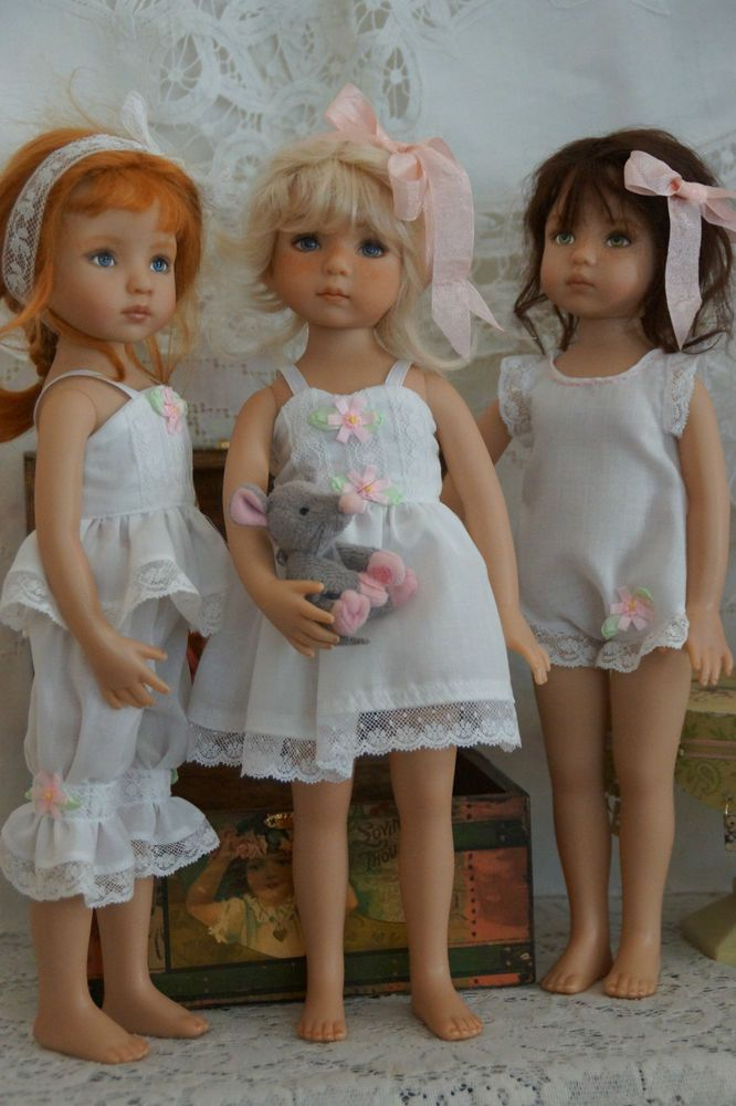 "Effner 13"" Little Darling 5 pc. plus *DELICATE DAINTIES* by Ladybugs Doll Design"