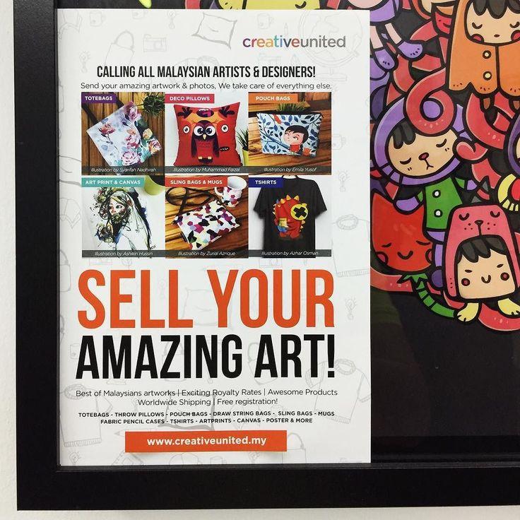 Follow dan lawati @creativeunited.my untuk melihat pelbagai lagi karya-karya hebat oleh artis pelukis dan pereka indie tempatan di art marketplace terbesar di Malaysia! Follow kami untuk santapan inspirasi kreativiti setiap hari. Pamer dan jualkan karya seni anda sebagai produk menarik di Creative United tanpa kos. Sertai kami!  #creativeunitedmy #totebag #pouchbag #slingbag #tshirt #pencilcase #mug #drawstringbag #poster #artprint #canvas #pillow #slingbag