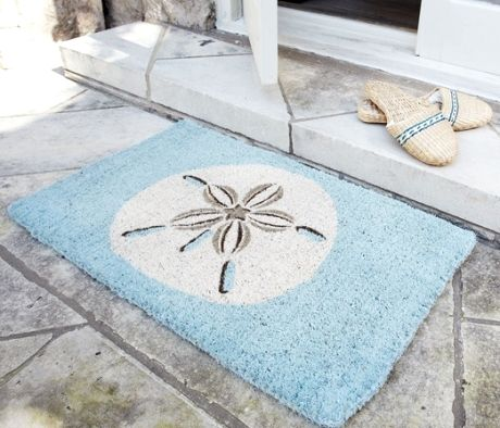 Nautical and Beach Doormats that Bring Color to your Step www.completely-coastal.com